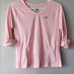 Adidas Pink V-neck Long Sleeve
